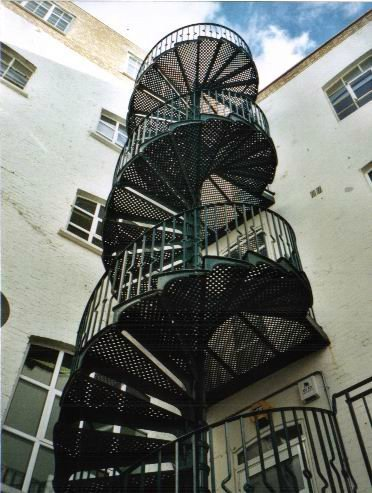 Spiral Staircase outside building