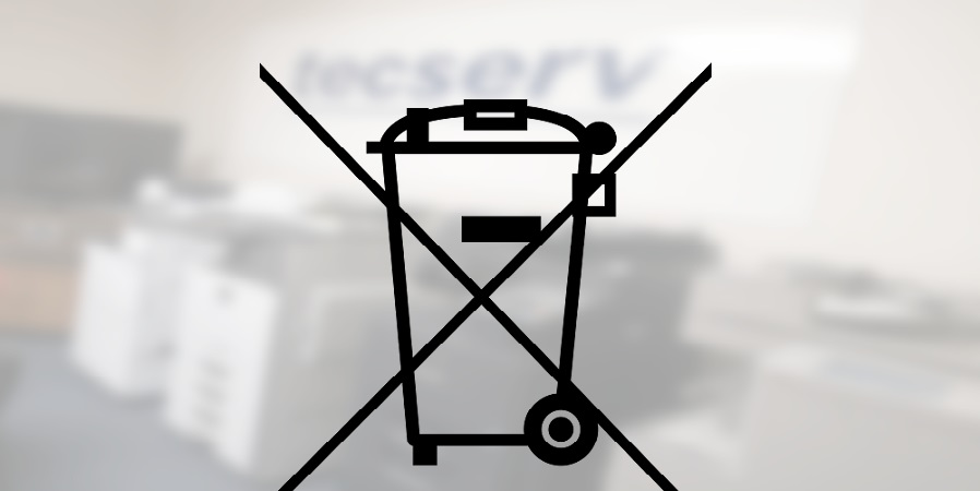 Photocopier WEEE disposal logo